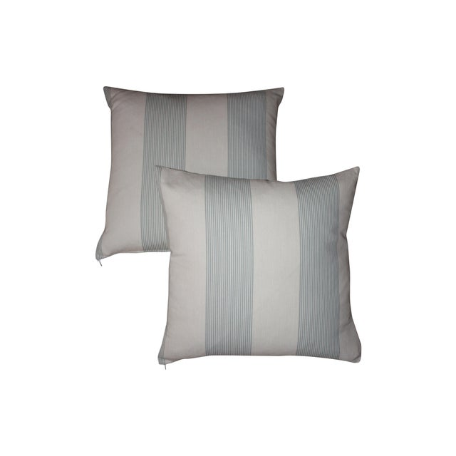French Blue & Ivory Pillow Cover - A Pair - Image 4 of 4