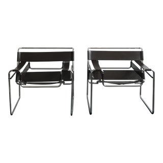 Authentic Breuer Wassily Chairs - A Pair