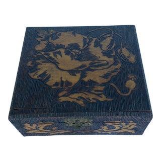 Floral Carved Tramp Art Box