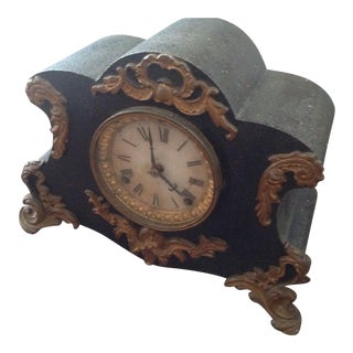 Antique Ansonia Cast Iron Clock