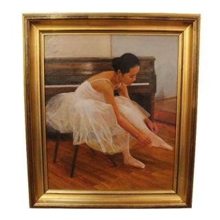 Wu Jian Ballerina Oil Painting
