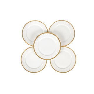 Rosenthal Selb Bavaria Gold Trim Dinner Plates - Set of 5