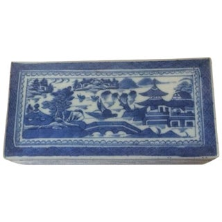 Antique Chinese Blue & Celadon Box