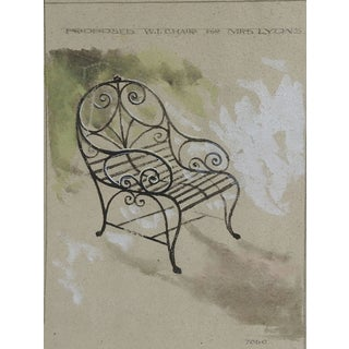 Garden Chair Watercolor