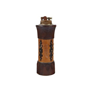 Vintage 1960s Tall Leather-Wrapped Lighter