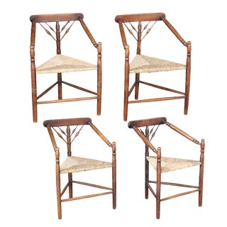 Set of Four Early 20th Century Turner Chairs by William Birch