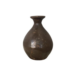 Antique Brown Crock Vase