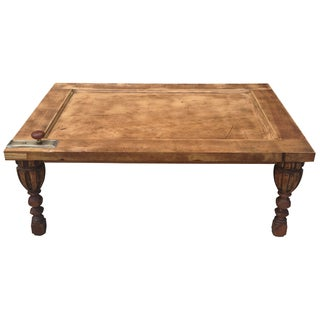 Historic Coffee Table with Hammered Patina