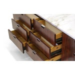 Image of Exceptional Florence Knoll Marble-Top Rosewood Credenza