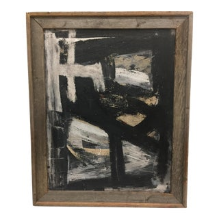 Black & White Abstract Expressionist Oil Painting