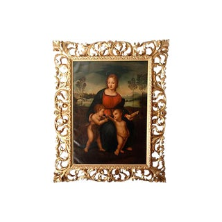 Antique Italian Oil Painting Madonna after Raphael 18th c.