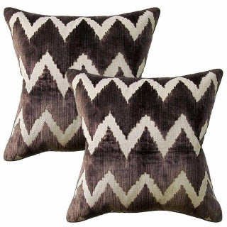 Lee Jofa Watersedge Belgian Velvet Accent Pillows - A Pair