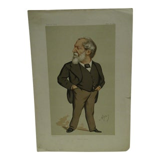 "Vintage Vanity Fair Print - ""Modern Poetry"" Browning, November 20, 1875"
