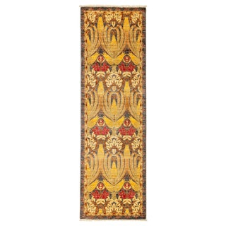 """Arts & Crafts Hand Knotted Runner - 2'5"""" X 8'0"""""""