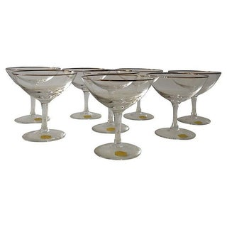 West German Crystal Champagne Coupes- Set of 8