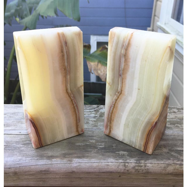Modern Onyx Bookends - A Pair - Image 4 of 7