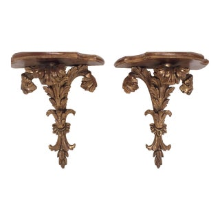 Giltwood Wall Brackets - A Pair