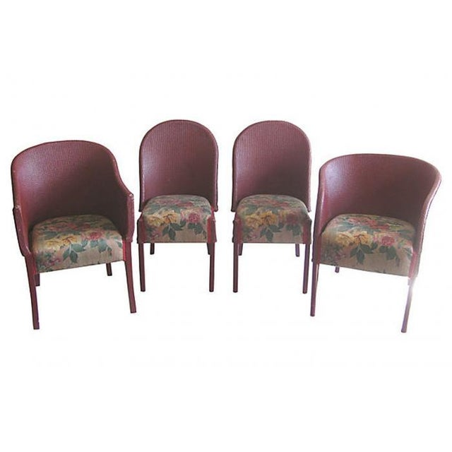 Lloyd Loom Wicker Bentwood Chairs - Set of 4 - Image 1 of 7