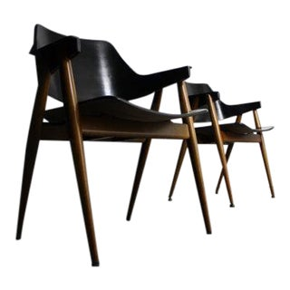 Pierre Pauline for Thonet Bentwood Accent Chairs - Pair