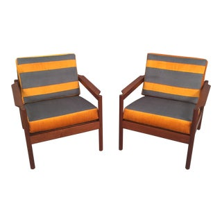 Mid-Century Modern Restored Danish Arm Chairs - A Pair