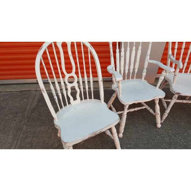 Mis-Matched Dining Chairs: Distressed in White - Image 4 of 4