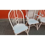 Image of Mis-Matched Dining Chairs: Distressed in White