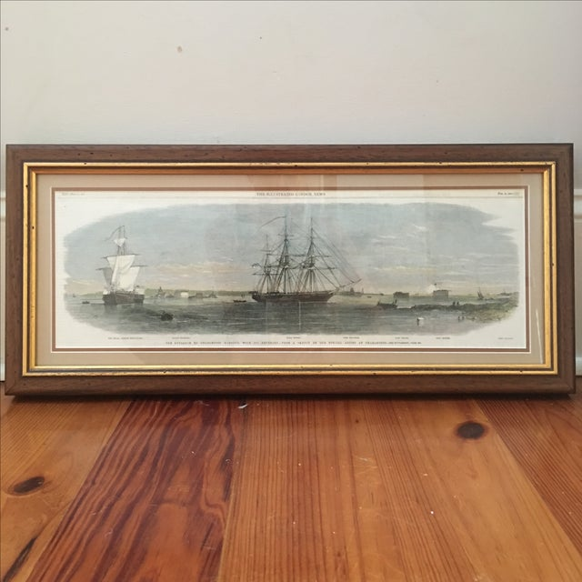 Framed Ships in Charleston Harbor Print - Image 3 of 10