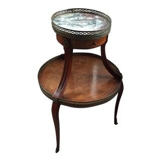 Grosfeld House Regency Inlay & Marble Table