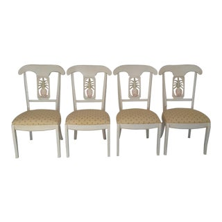 Ethan Allen Legacy Solid Wood Dining Chairs - Set of 4