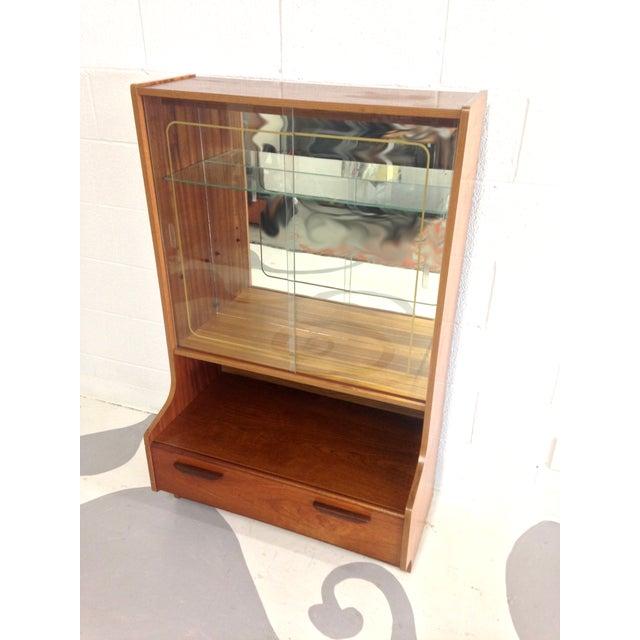 Mid-Century Modern Teak Glass Cabinet - Image 5 of 7