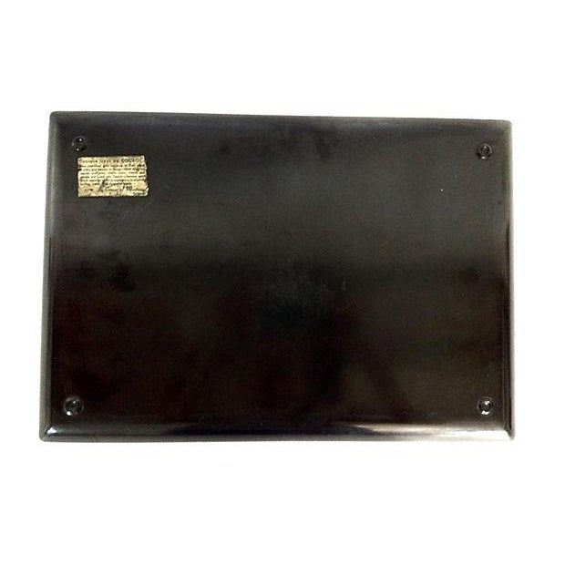 Image of Black Lacquer Poodle & Butterfly Tray