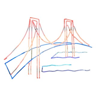 Vintage Golden Gate Bridge Neon Sign