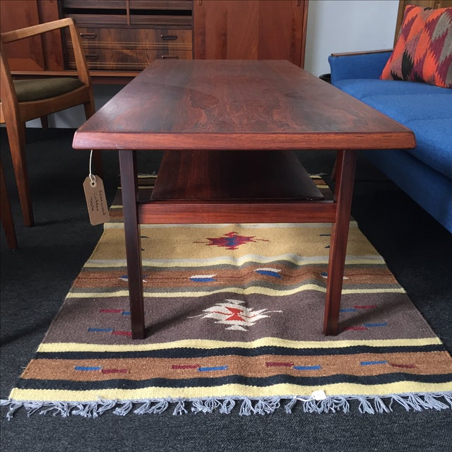 Danish Modern Rosewood Coffee Table - Image 5 of 8