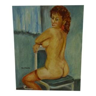 C. 1991 Lady in the Nude by Tom Sturges Original Painting