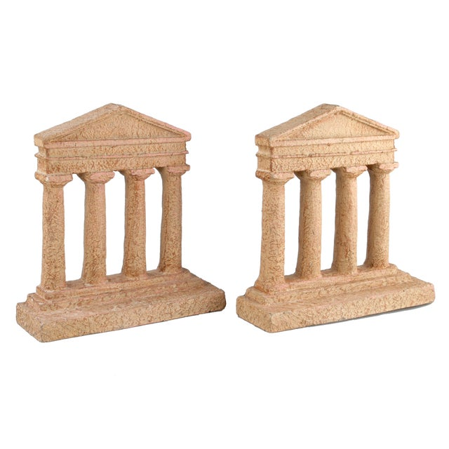 Terracotta Greek Acropolis Style Bookends - A Pair - Image 5 of 10
