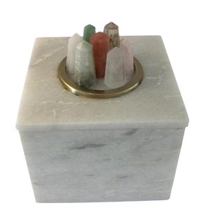 Crystal & White Marble Box