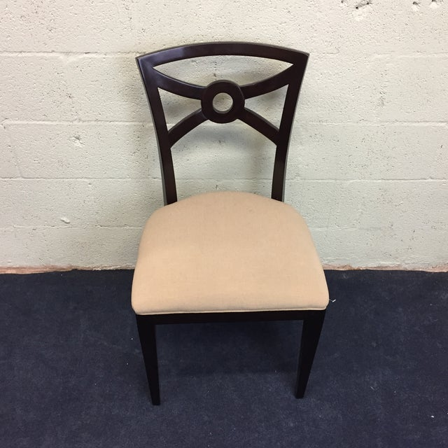 Beige & Espresso Side Chair - Image 2 of 8