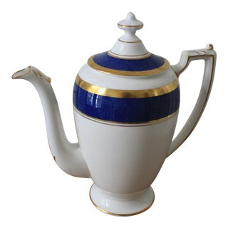Athlone-Blue Coalport Coffee Pot