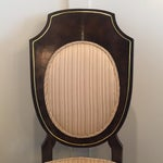 Image of Amboyna Burl Dining Chairs by Mastercraft - Set/4