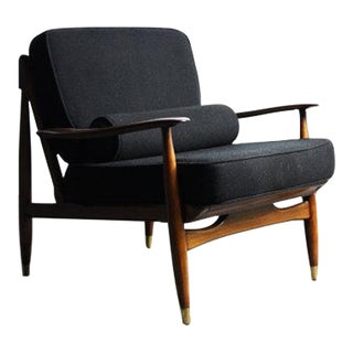 Finn Juhl Attributed Walnut Lounge Chair