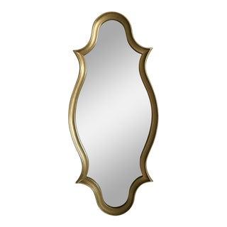 Gilt Wood Cartouche Form Framed Mirror
