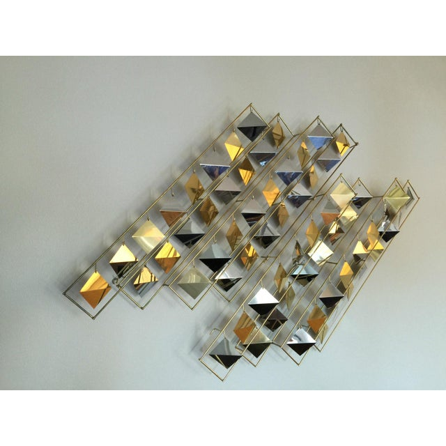 Image of Curtis Jere Kinetic Brass Wall Sculpture