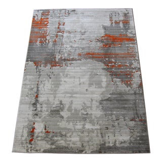 "Orange Abstract Rug - 5'3"" X 7'8"""