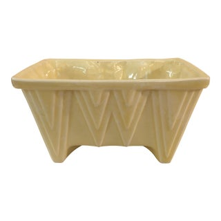 CP Cookson Art Deco Style Yellow Planter