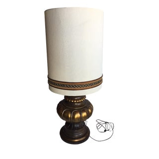Vintage Table Lamp with Original Shade