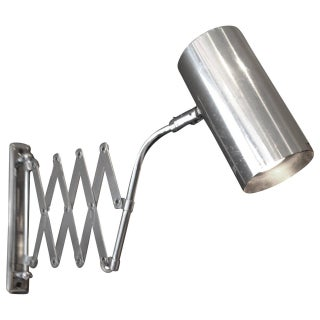 Industrial Style Koch and Lowy Accordion Sconce