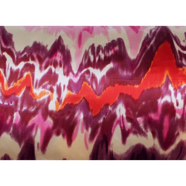 New Drip Dye Silk Lumbar Pillow - Image 4 of 4