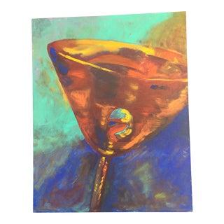 Martini Acrylic on Canvas Painting