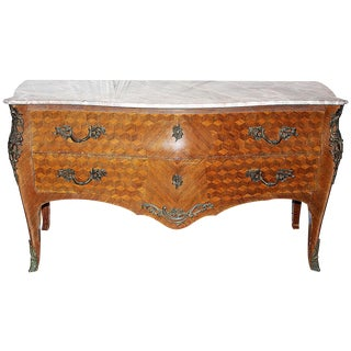 Louis XV-Style Bombé Commode