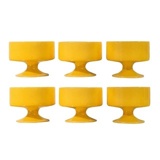 Anchor Hocking Yellow Sorbet Compotes - Set of 6